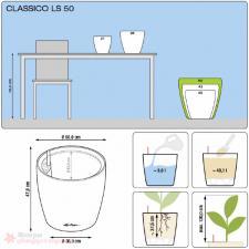 Кашпо Classico 50 LS с системой полива