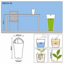 Кашпо Delta 30 с системой полива