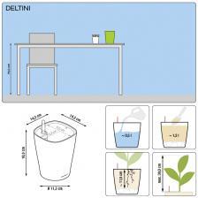 Кашпо DELTINI с системой полива
