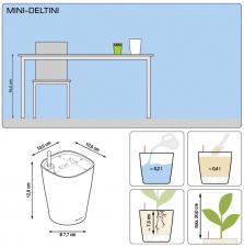 Кашпо MINI-DELTINI с системой полива