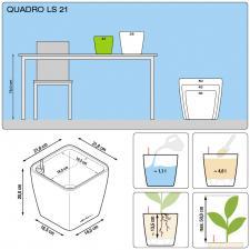 Кашпо Quadro 21 LS с системой полива