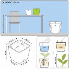 Кашпо Quadro 28 LS с системой полива