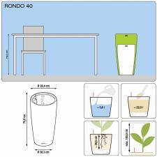 Кашпо Rondo 40 с системой полива