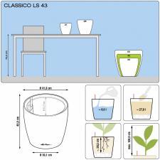 Кашпо Classico Color 43 с системой полива