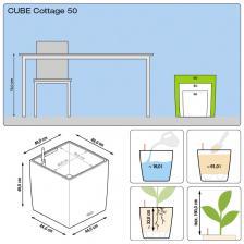 Кашпо Cube Cottage 50 с системой полива