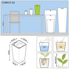 Кашпо Cubico Color 22 с системой полива