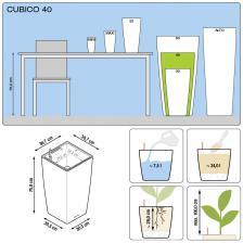 Кашпо Cubico Color 30 с системой полива