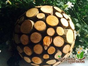 Шар из деревянных спилов